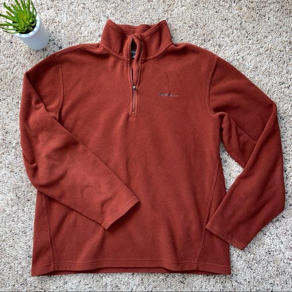 ❤️🚫SOLD🚫❤️EDDIE BAUER Rust 1/4 Zip Pullover